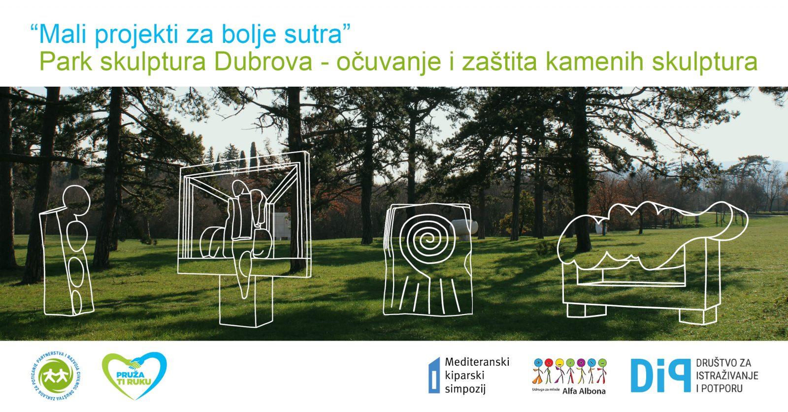Park skulptura Dubrova – očuvanje i zaštitakamenih skulptura