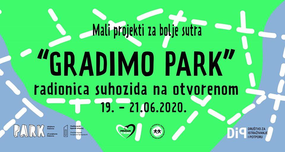 Gradimo Park - obnova suhozida u Parku skulptura Dubrova